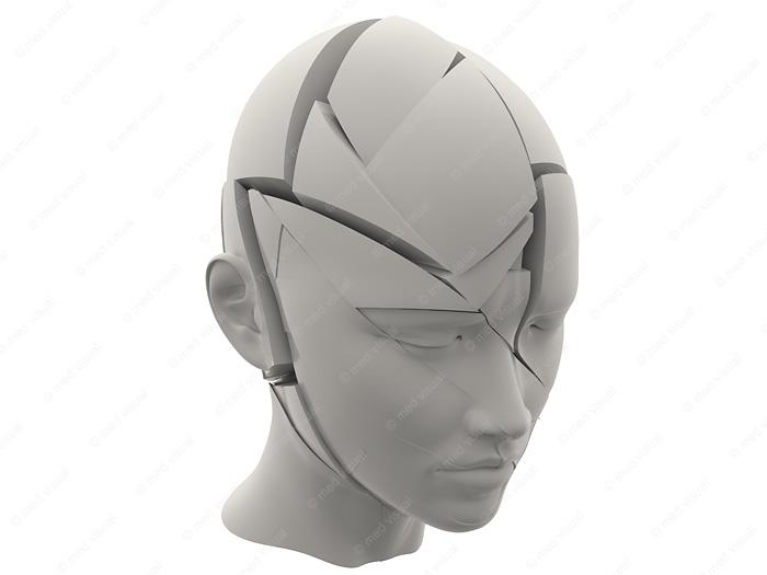 Migräne und Kopfschmerzen 3D-Grafik